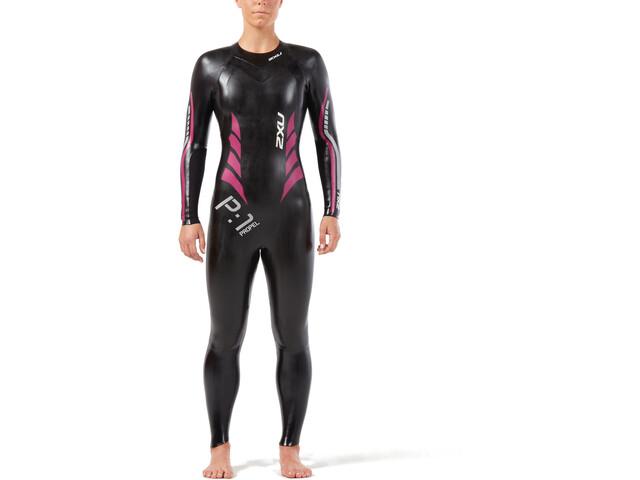 2XU P:1 Propel Wetsuit Women, black/peacock pink
